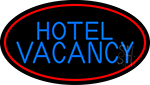 Hotel Vacancy With Blue Border Neon Sign