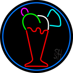 Ice Cream Glass Neon Sign