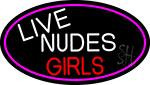 Live Nude Girls With Pink Border Neon Sign