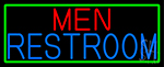 Men Restroom With Green Border LED Neon Sign