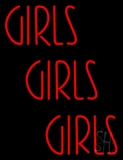 Red Girls Girls Girls Strip Neon Sign
