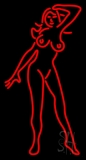 Red Strip Club Girl Neon Sign