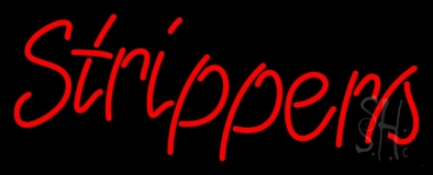 Red Strippers Neon Sign