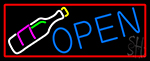 Open Wine Glass Neon Sign
