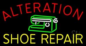 Alteration Shoe Repair Block Neon Sign
