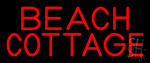 Red Beach Cottage LED Neon Sign