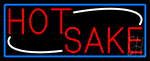 Red Hot Sake With Blue Border Neon Sign