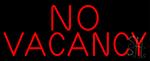 Red No Vacancy Neon Sign