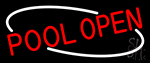 Red Pool Open Neon Sign