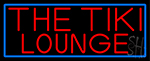 Red The Tiki Lounge With Blue Border Neon Sign