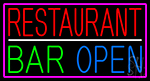Restaurant Bar Open LED Neon Sign
