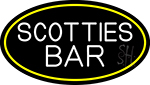 Scotties Bar Oval With Yellow Border Neon Sign