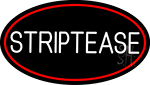 Striptease With Red Border Neon Sign