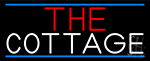 The Cottage With Blue Border LED Neon Sign