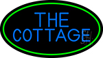The Cottage With Green Border LED Neon Sign