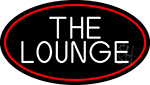 The Lounge Oval With Red Border LED Neon Sign
