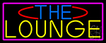 The Lounge With Pink Border LED Neon Sign