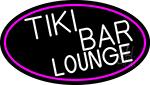 Tiki Bar Lounge Oval With Pink Border Neon Sign