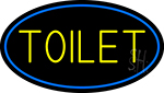 Toilet Oval With Blue Border LED Neon Sign
