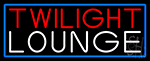 Twilight Lounge With Blue Border Neon Sign