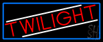Twilight With Blue Border Neon Sign