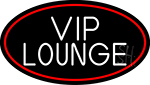 Vip Lounge Oval With Red Border Neon Sign