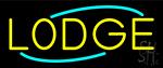 Yellow Lodge Neon Sign