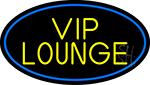 Yellow Vip Lounge Oval With Blue Border LED Neon Sign