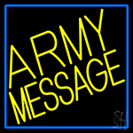 Custom Army With Blue Border Neon Sign