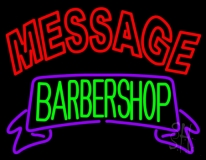 Custom Barber Shop Neon Signs