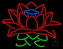 Lotus Flower Logo Neon Sign