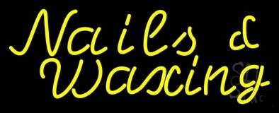 Yellow Nails Waxing Neon Sign