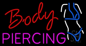 Body Piercing Logo LED Neon Sign