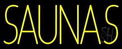 Yellow Saunas Neon Sign