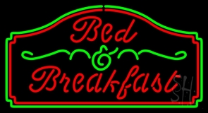 Breakfast Neon Signs Every Thing Neon #0: n105 1947 cursive bed and breakfast neon sign