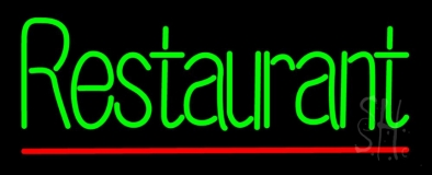 Green Restaurant Neon Sign