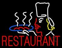 Restaurant Chef Logo Neon Sign
