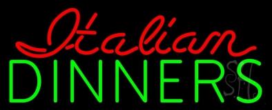 Italian Dinners Neon Sign