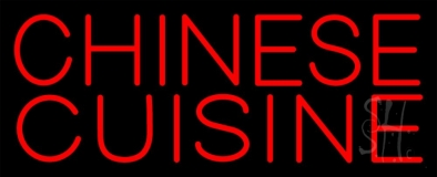 Red Chinese Cuisine Neon Sign