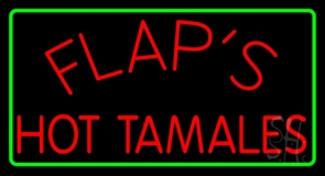 Flaps Hot Tamales Neon Sign