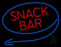 Round Red Snack Bar Neon Sign