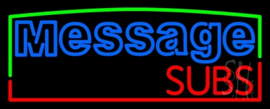 Custom Subs Neon Sign