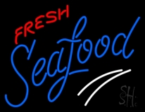 Fresh Seafood Neon Sign