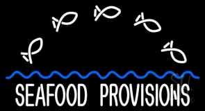 Seafood Provisions Neon Sign