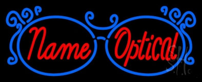 Custom Optical With Glasses Logo Neon Sign