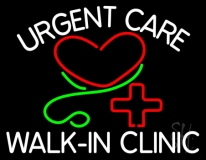 Urgent Care Walk In Clinic Neon Sign