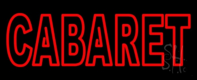 Double Stroke Cabaret Neon Sign
