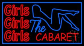 Girls Girls Girls The Cabaret Girl Logo Neon Sign
