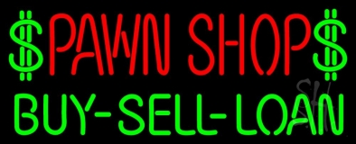 Pawn Shop Buy Sell Loan Neon Sign