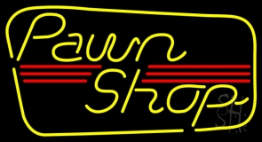 Yellow Pawn Shop Neon Sign